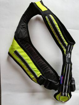 Führ- und Zuggeschirr Safety neongelbgrün-sw