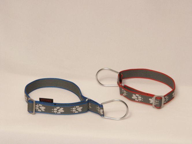 Halsband ManMat Polar mit Zugstopp M-M rot-schwarz