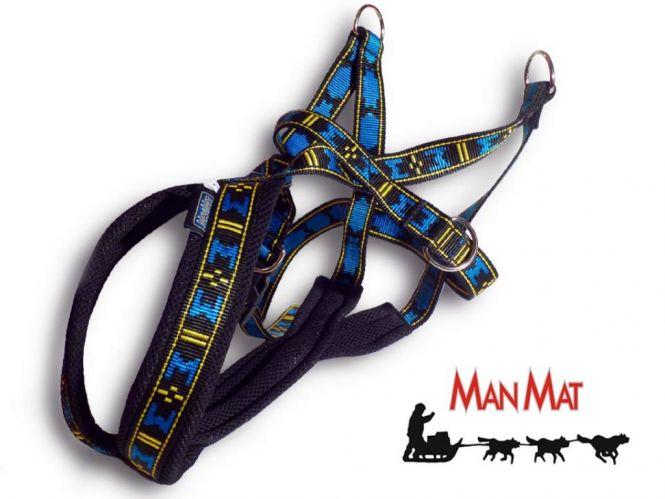 ManMat Pulka Zuggeschirr blau-schwarz XL