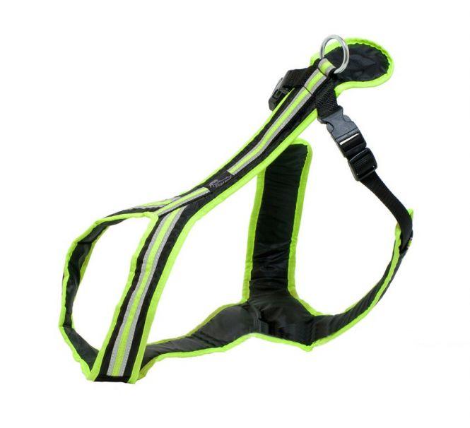 Führ- und Zuggeschirr Safety schwarz-neongrün